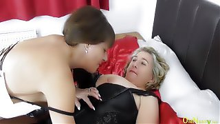 OldNannY Mature British Lesbians Licking