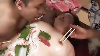 sex tube Japanese BBW Mature Sushi Bar (Uncensored)