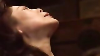 Teen Japanese girl and mature woman are having soem hot lesbian sex, they end up scissor fucking each other...