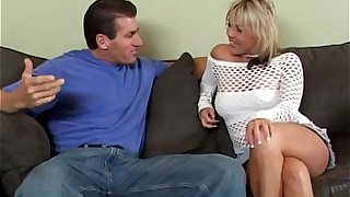 Blonde mother fuckd on the couch