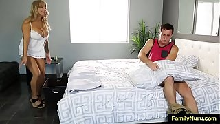 Sexy mom and son sucking and fucking