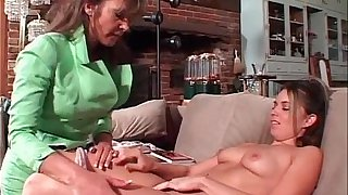 Old milf satisfying fresh and young