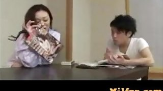 Mom trains son how to fuck