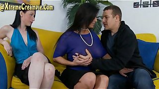Sammy Brooks And Violet Snow Creampie Threesome