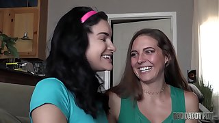 MOMMY TEACHES HER LITTLE DAUGHTER HOW TO FUCK - Featuring: Sadie Holmes / Eden Sin / Barrett Blade