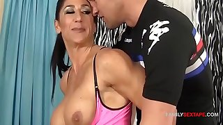 Fit Mom Fucks Step-Son To Spice Up Cardio