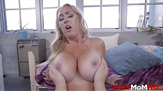 Blonde MILF Step Mom With A Big Ass & Tits Fucked By Step Son Before Leaving POV