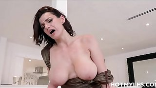 Big Tits Big Ass MILF Step Mom Becky Bandini Sex With Step Son On Family Couch