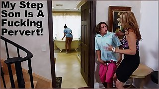 BANGBROS - Stepmom Julia Ann Has Threesome With Maid Abby Lee Brazil