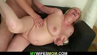Her old mom and husband taboo sex