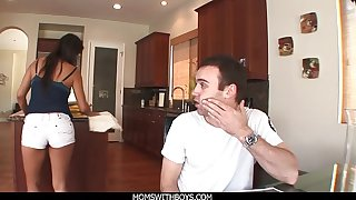 MomsWithBoys - MILF Housemaid Laurie Vargas Anal Fucks Young Cock