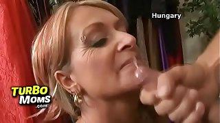 Mom with boy sex feat. hottest blonde cougar Luna Azul