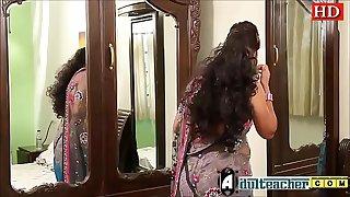 Indian hot teacher in pink bra and sari seducing young boy -Adulteacher.com