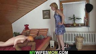 Older blonde mother inlaw