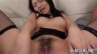Cute mom rams two knobs in her mouth and gets creamed