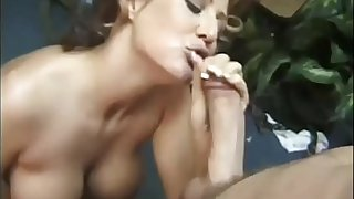 Milf mom giving an amazing blow to boy