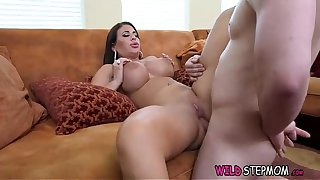StepMom And StepDaughter Giving Young Boy Blowjob During Mesmerizing Threesome