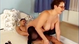 Granny With Glasses Wanting Their Cock