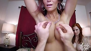 Mom and Aunt Milk and Fuck my Cock