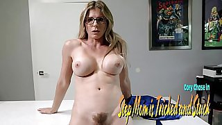 Glued Step Mom gives up her Ass and Pussy - Cory Chase
