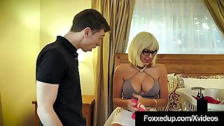 Young Black Beauty, Jenna Foxx, stuffs her face deep in her boyfriend's step mother as her bf slams her brown box in this crazy family fun threesome! Full Video & Jenna Foxx Live @ FoxxedUp.com!