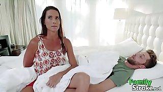 MOM's Taboo Strocking Son's Cock