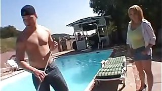 MILTF #21 - Sophie Mounds - Amazing hot mom with firm and round boobs fucked by boy on pool