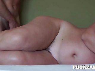 Mature BBW Hairy Pussy Pumped Full Of Jizz
