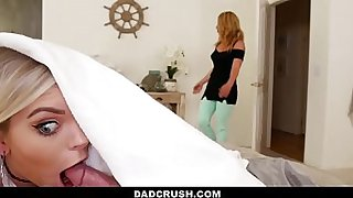 Dad Crush - Hot Teen (TrishaParks) Fucks Stepdad Behind Her Mom