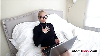 Blonde Mom Uses Son's Cock