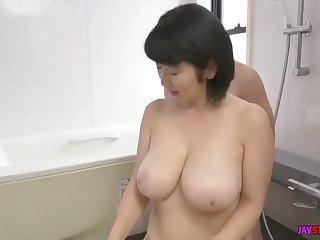son caught his busty mother masturbating