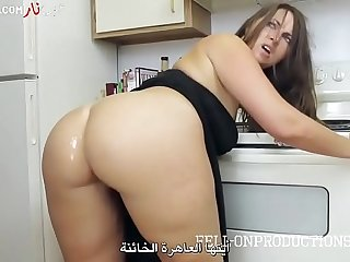 قفش مرات ابوه الخاينة وهي بتكلم حبيبها علي التليفون فناكها  سكس امهات مترجم