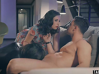 2 sex slaves take very admirable care of their dom