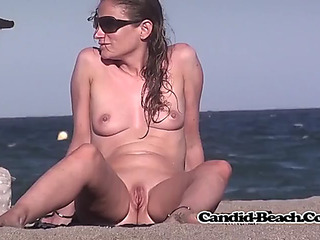 Preggy nudist mother i'd like to fuck hawt body beach voyeur spy movie scene hidden