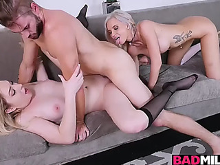 Zoe parker rides her boyfriends giant dong with astrid star guiding her